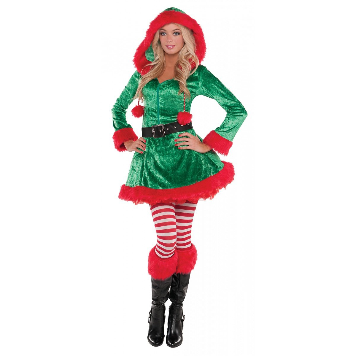 New Womens Christmas Sassy Elf Ladies Fancy Dress Party Costume ...