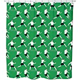 On The Soccer Field Shower Curtain: Large Waterproof Luxurious Bathroom Design Woven Fabric