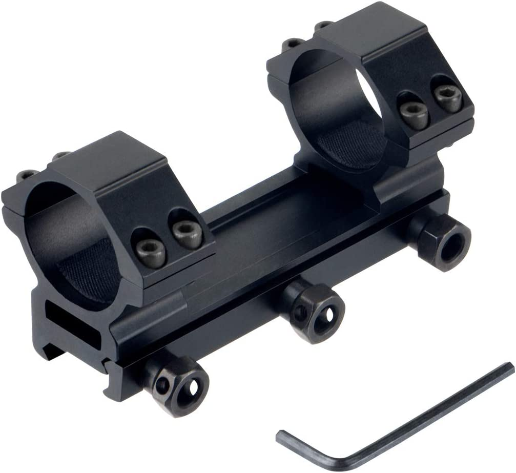 FOCUHUNTER Tactical 30mm Picatinny Weaver Anelli per cannocchiale da Caccia Caccia Fucile monopezzo Montatura in alluminio 20mm Rail Laser Scope Montatura a Coda di rondine