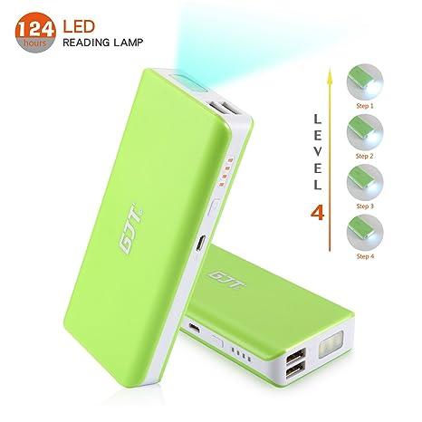 Amazon.com: GJT® 10000 mAh Power Bank 4 luz LED Backup ...