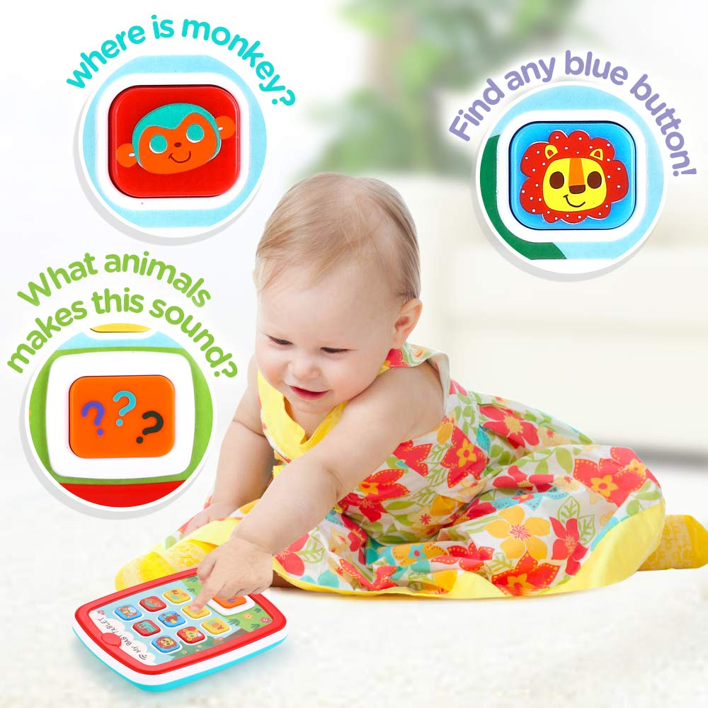 Infant Toys Baby Tablet Toys Learning Educational Activity Center for 6  12  18 Month up Boys and Girls with Music Light ABC Numbers Color Games Baby Toys for First Birthday by INSOON (Image #2)