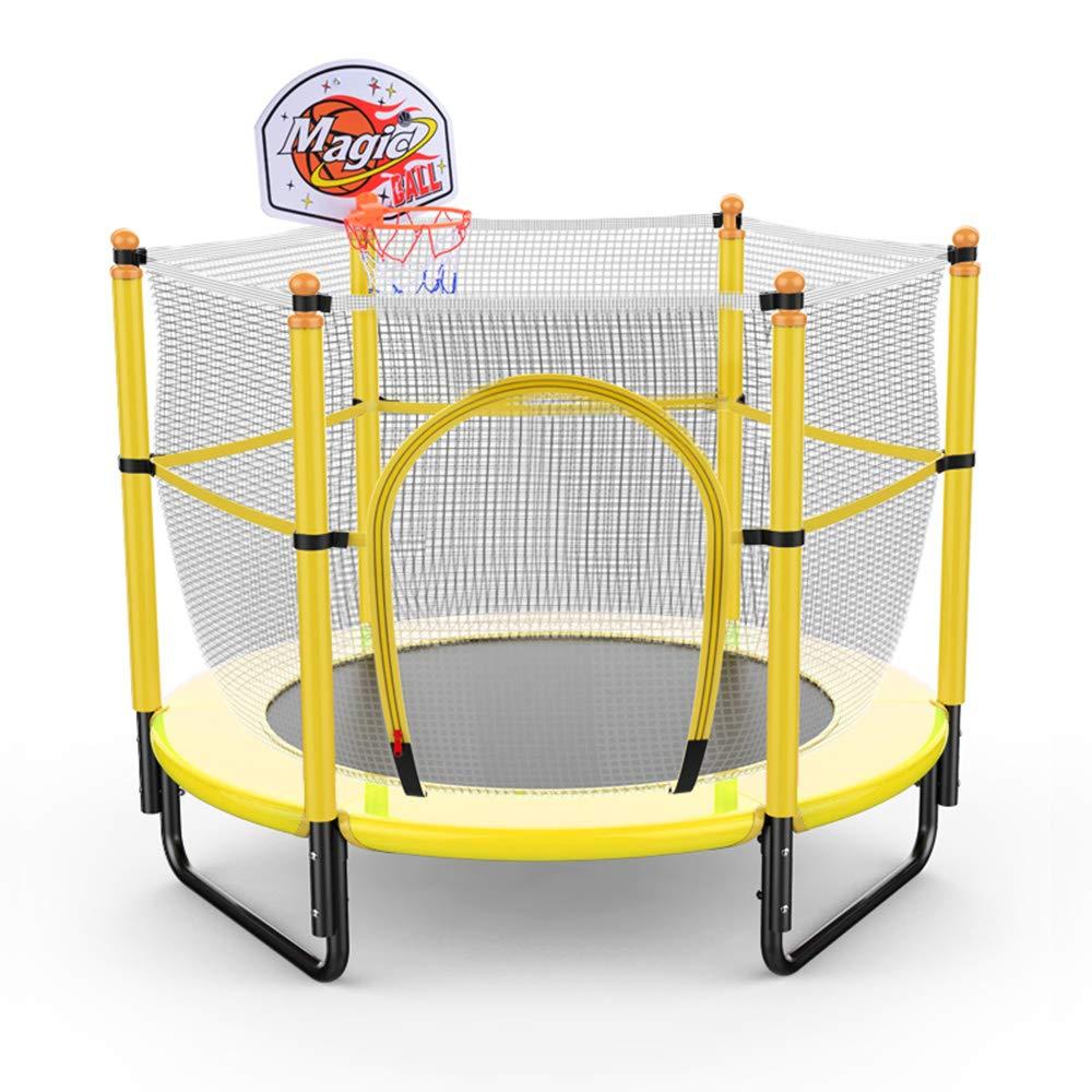 クラシック 59インチ子供用ミニトランポリン、 安全で丈夫な幼児スポーツ用トランポリン Yellow、 バスケットボールスタンドと保護ネットカバー 屋内屋外ガーデン B07QF9CG4C レジャートランポリン、ベアリング容量300kg B07QF9CG4C Yellow Yellow Yellow, ウナカミマチ:a8e82382 --- arianechie.dominiotemporario.com