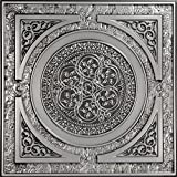 Steampunk-Faux Tin Ceiling Tile - Antique Silver 25-Pack