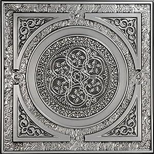 tin ceiling tile antique silver 25pack - Faux Tin Ceiling Tiles