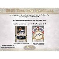 $208 » 2021 Topps Tier One MLB Baseball HOBBY box (3 cards/bx)