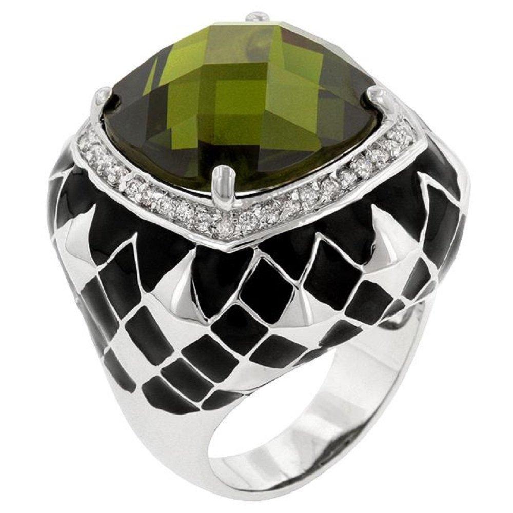 WildKlass Olive Jester Cocktail Ring