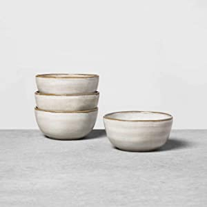 Reactive Glaze Dinnerware Collection - Hearth & Hand with Magnolia (Set of 4, Gray Soup/Cereal Bowl)