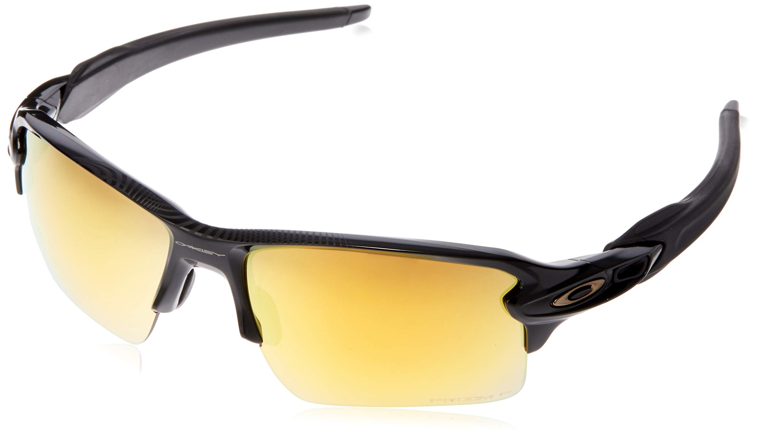 Oakley Men's OO9188 Flak 2.0 XL Rectangular Sunglasses, Polished Black/Prizm 24K Polarized, 59 mm by Oakley
