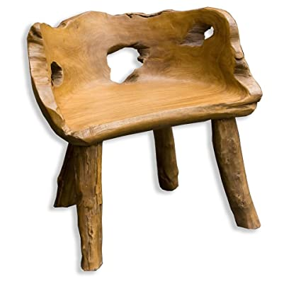 Enjoyable Teak Tree Root Chair Hand Crafted Garden Furniture Amazon Squirreltailoven Fun Painted Chair Ideas Images Squirreltailovenorg