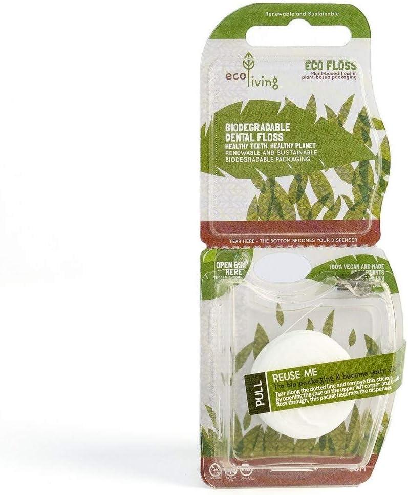 Hilo dental ecológico EcoLiving - Aprobado por veganos, sin ...