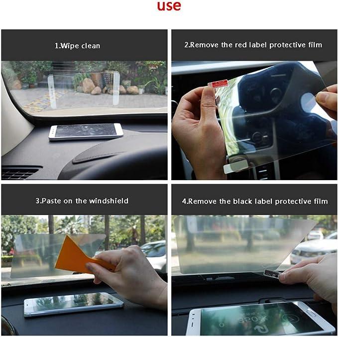 120mmx90mm MonkeyJack Universal HD Head Up Display HUD Mobile Phone Reflective Film