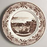 Johnson Brothers Historic America Brown Dinner Plate, Central Park Bethesda Fountain