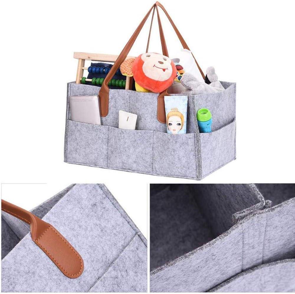 JoGoi Panier /à couches portable pour b/éb/é avec poussette Gris organiseur de couches pour voyage en voiture