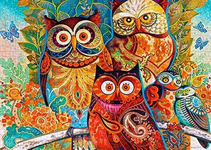 Phetium Puzzles for Adults 1000 Piece - owl Bird