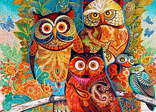 Phetium Puzzles for Adults 1000 Piece - owl Bird