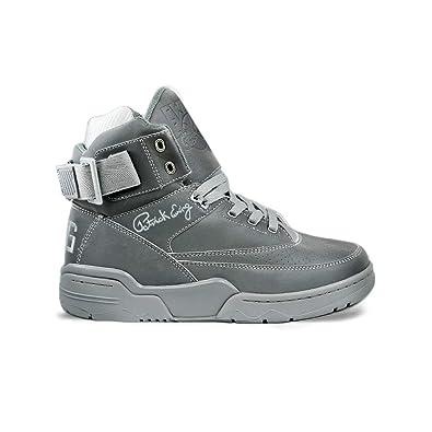 sale retailer f9d6d 009cd Amazon.com   PATRICK EWING Athletics 33 HI Silver Reflective 1BM00146-050    Shoes