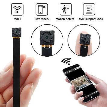 Mini Cámara WiFi, UYIKOO HD 1080P Cámara Espía con Detección de ...