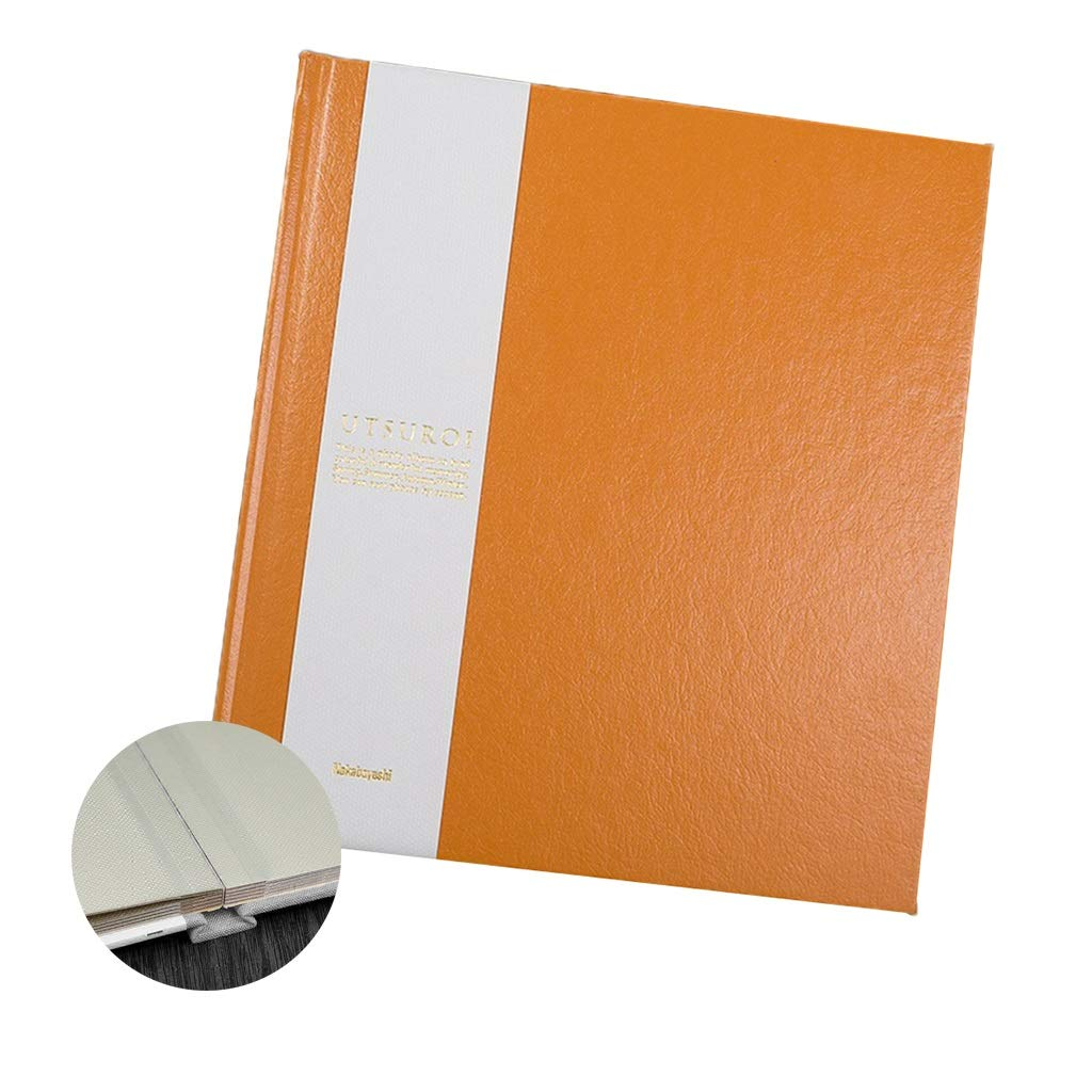 Album Photo Organizer Paste Album Wedding Album Family Photo Company Memoirs Best Gifts Stamp Book Travel Record (Color : Orange, Size : 2421.51.8cm) by Albums Inc.