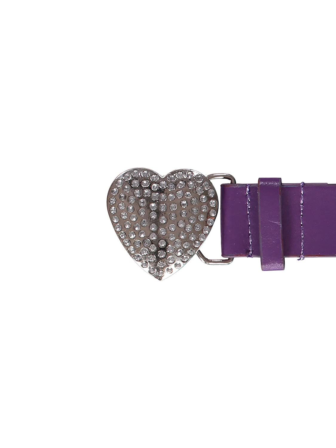 Waisted Leather Rhinestone Heart Belt