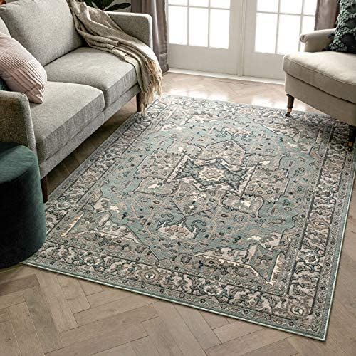 Reviewed: Well Woven Blossom Leif Vintage Medallion Light Blue 9'3″ x 12'6″ Area Rug