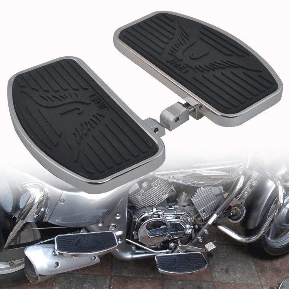 HONDA STEED VLX400 VT600 1992-2007 Footboard Front//Rear foot pegs KIKILIVE Motorcycle Floorboards,Rear Foot Pegs Passenger Fit for Honda shadoe VT400 1997-2003
