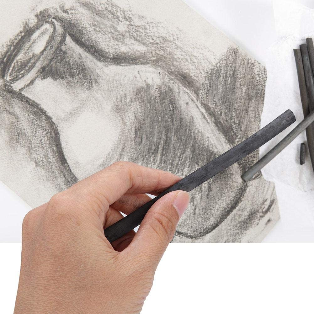 25pcs Charcoal Pencils Sketch Pencils Artist Art Drawing Sketching Painting Tools Charcoal Drawing Bar Sticks Stationery for Adults Artist Students Beginner 7333