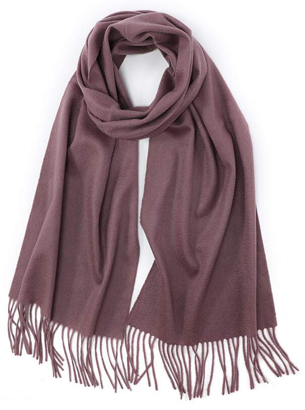 C JUN Scarf Ladies Winter Thick Warm Warm Cashmere Water Ripple Shawl Dual Purpose (color   A)