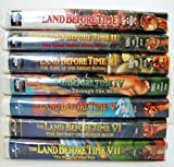 The Land Before Time - Set of Seven (7) VHS movies