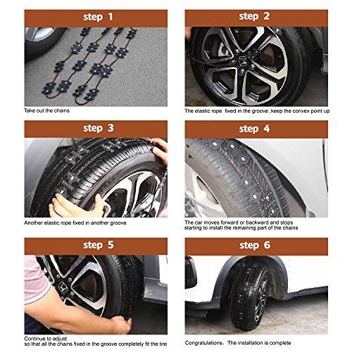 Good Cars For Snow: Shmbada Vehicle Tire Snow Chains Anti Skid Emergency