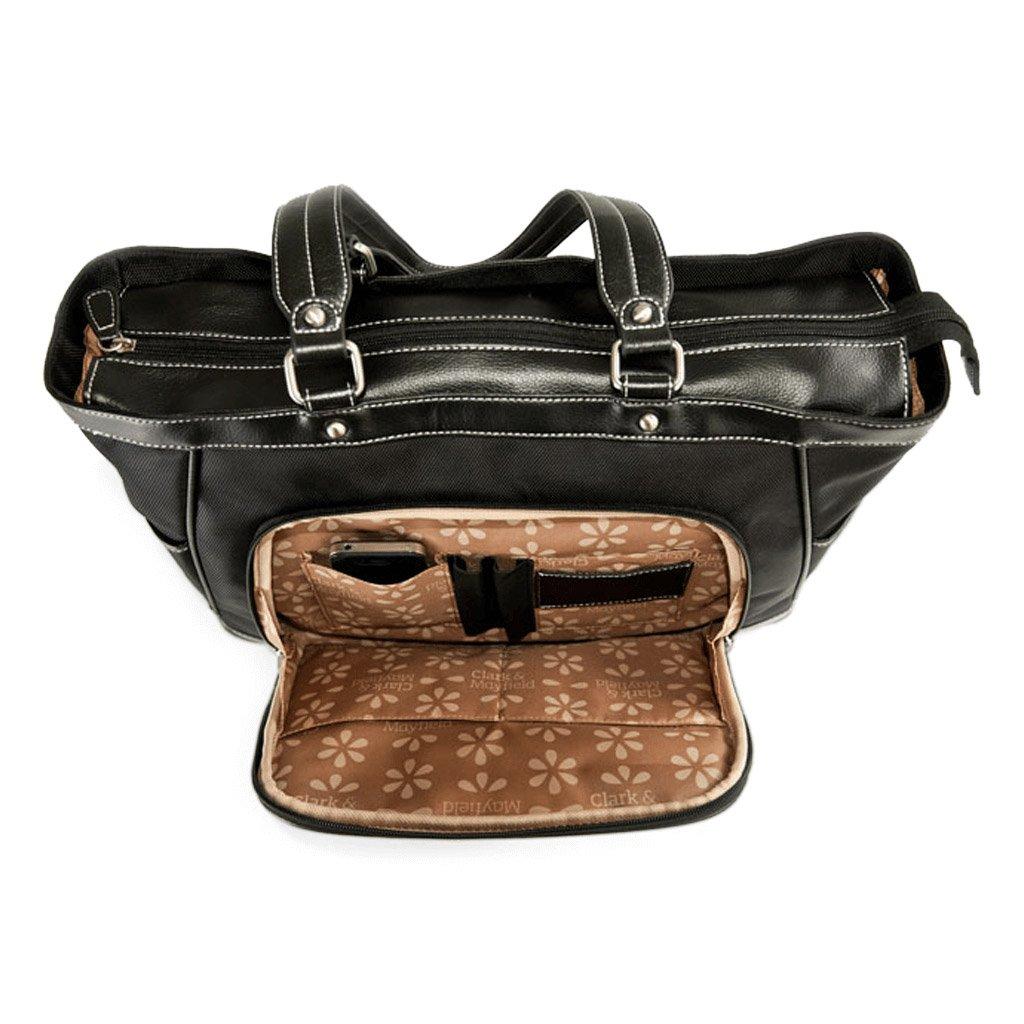 b9e92d64d82 SW15-15 Clark & Mayfield Sellwood Metro Laptop Handbag 15.6 Bordeaux Brown