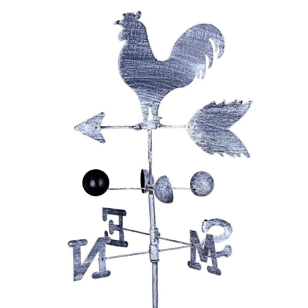 Banderuola Galletto, Nostalgia banderuola gallo segnavento mulino a vento di ferro in stile, Sculture segnavento,