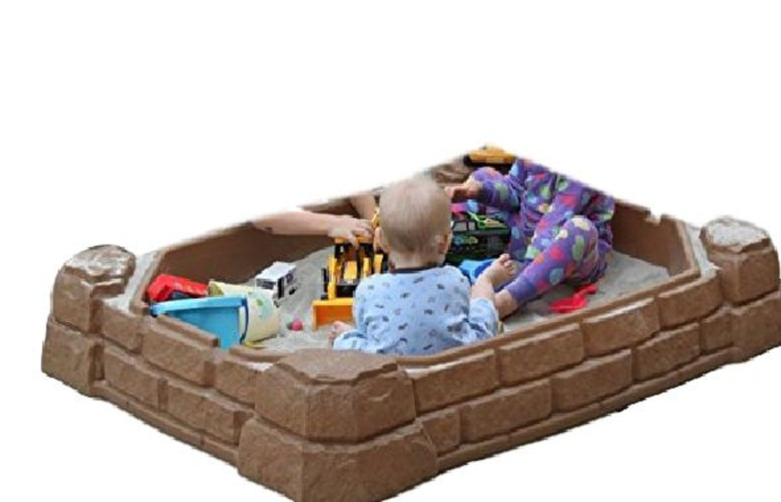 ATS Sandbox with Lid Toys for Kids Outdoor Sandbox Large Plastic Sandbox with Cover Backyard Toddler Children & eBook by AllTim3Shopping