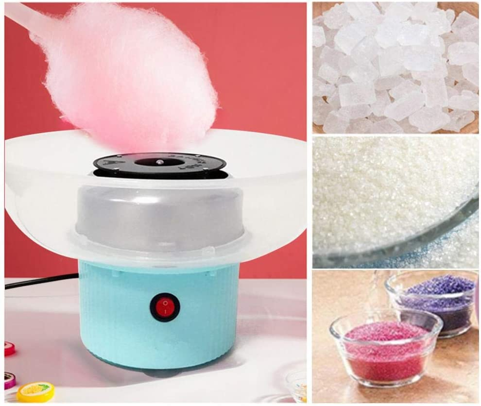 Portable Marshmallow Machine for Family Party Children BLeKing Cotton Candy Floss Maker Cotton Candy Machine 500W DIY Electric Mini Cotton Candy Maker for Kids
