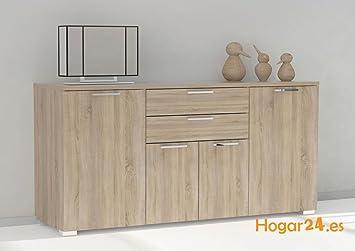 Hogar24- Aparador buffet salón comedor 4 puertas + 2 cajones, color ...