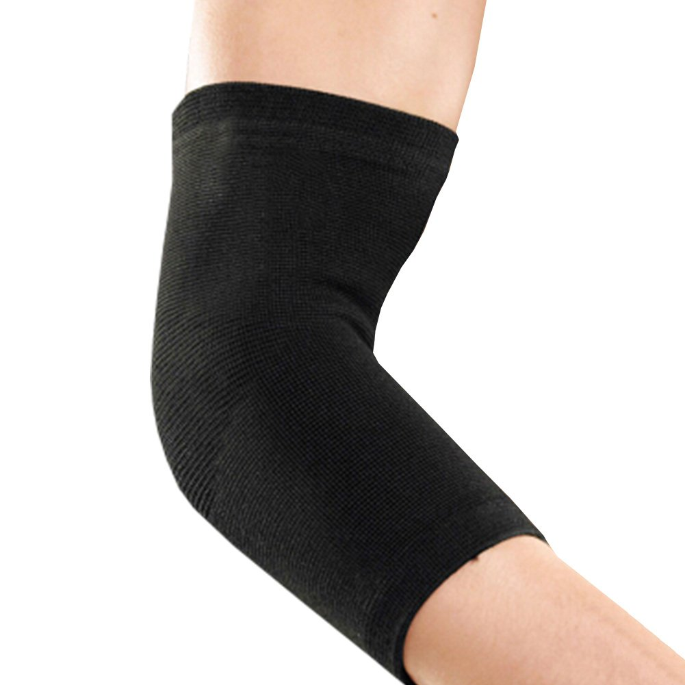 2 PCS Elastic Elbow Support, Soft And Breathable Sport Elbow Warmth Sleeve Black Blancho Bedding