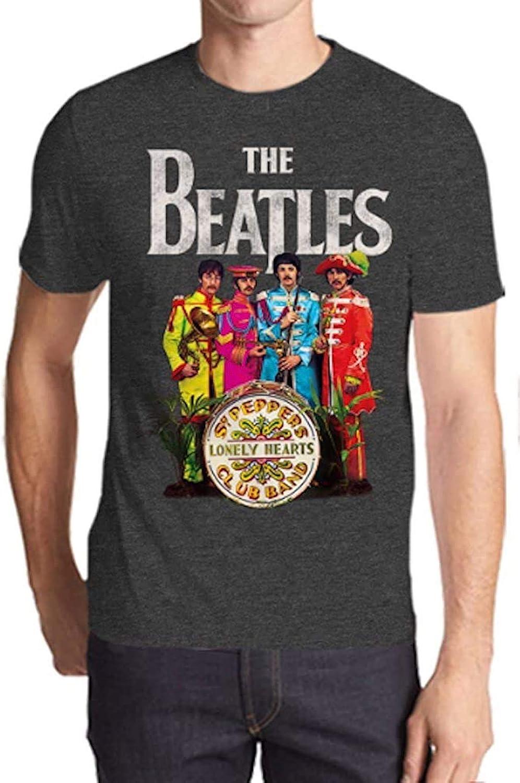 The Beatles Sargent Peppers Lonely Hearts - Camiseta de Manga Corta para Hombre, Color Gris