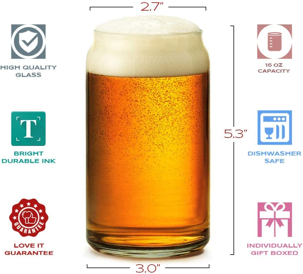 16 oz Beer Can Glass Funny Vintage 30 Year Old Presents Best Gift Ideas for Dad Mom Husband Wife th 1990 30th Birthday Gifts for Men Women Beer Glasses Personalized Party Decorations Supplies