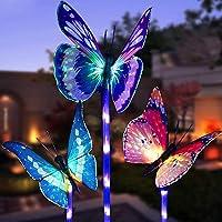 LED Luces Solar exterior Mariposa Impermeables Luz,MMTX 3 Piezas jardín…