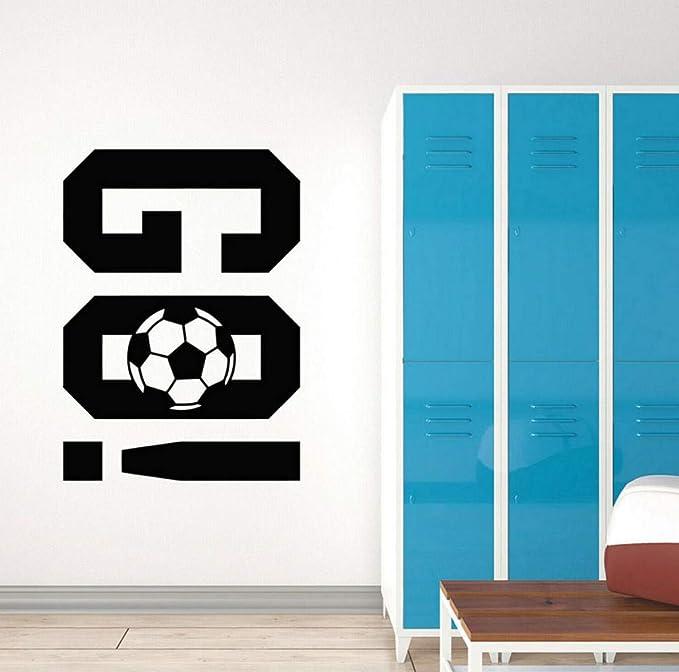 Pegatinas de pared Fútbol Calcomanía de pared Balón de fútbol Go ...