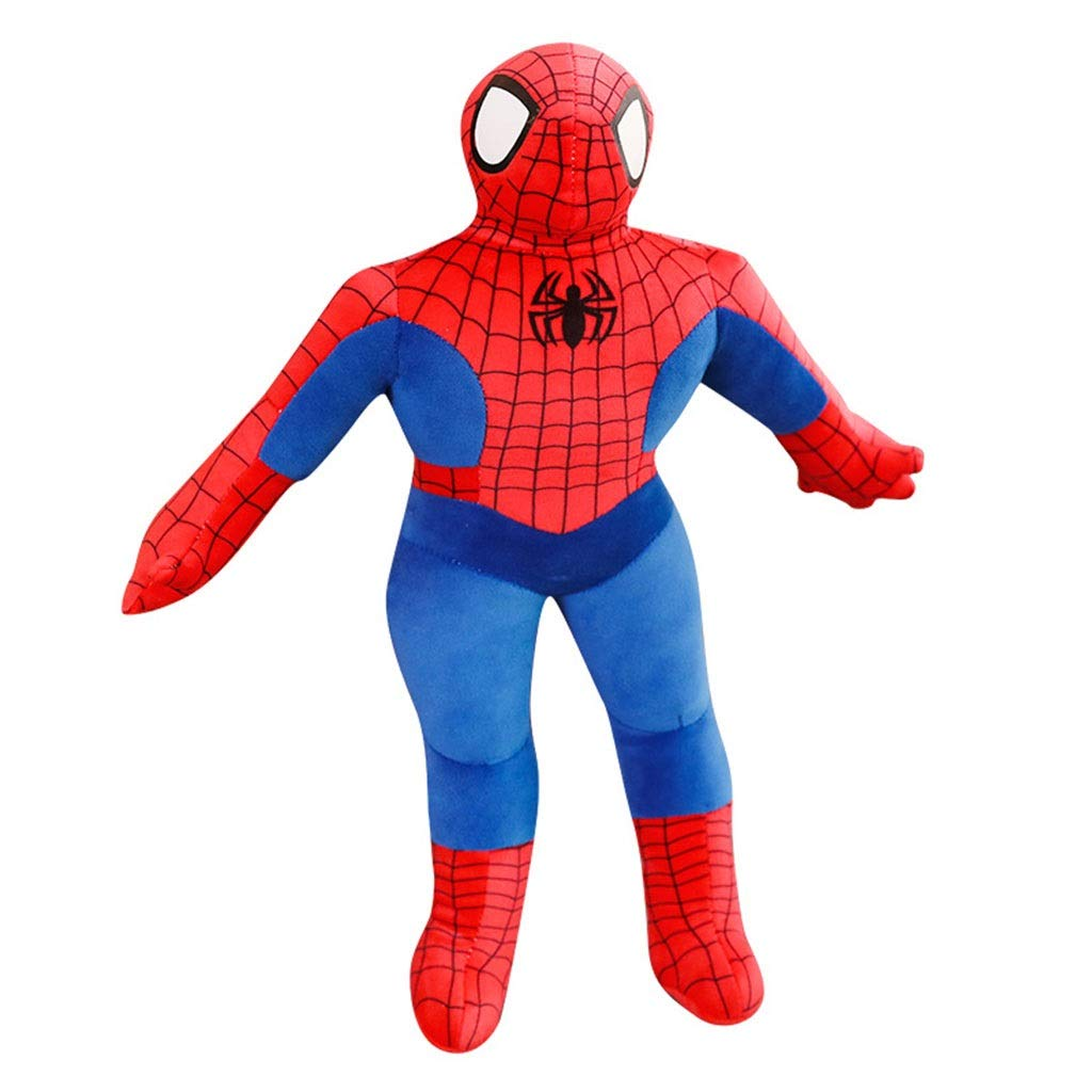 Plush Toys Plush Toy Cartoon Spiderman Doll Sleeping Doll Children's Room Decoration Boy Gift (Color : Red, Size : 95cm) by Plush Pillows