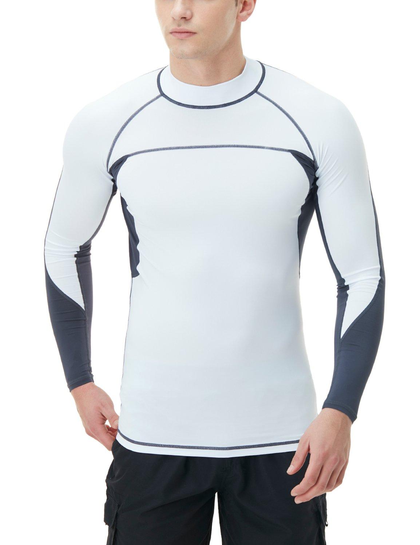 Tesla TM-MSR13-WTC_2X-Large Men's UPF 50+ Long Sleeve Rashguard Surf Athletic Fit MSR13