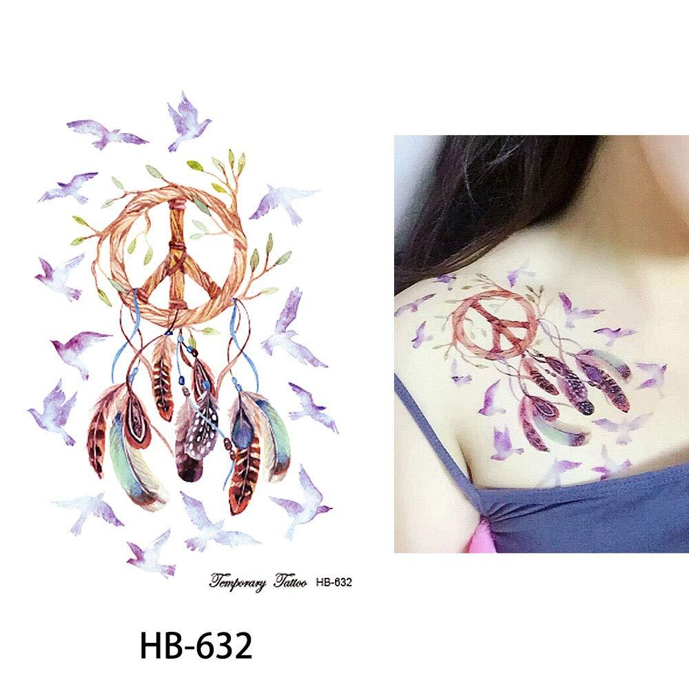 Atrapasueños Aves Color Tatuaje temporal tatuajes de flash ...