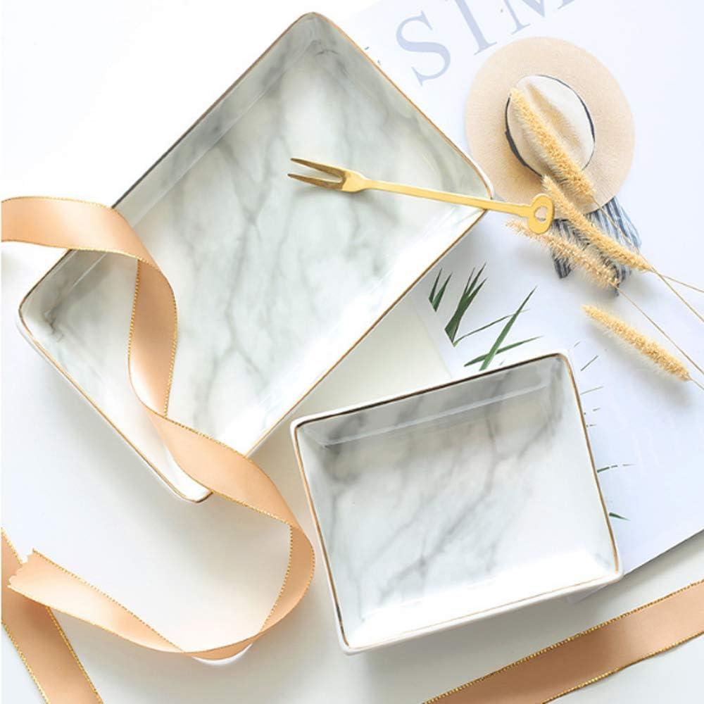 Ami Marbre c/éramique Plateau /à bijoux Anneau porte anneau Ring Organizer avec Cadeau de pendaison de cr/émaill/ère