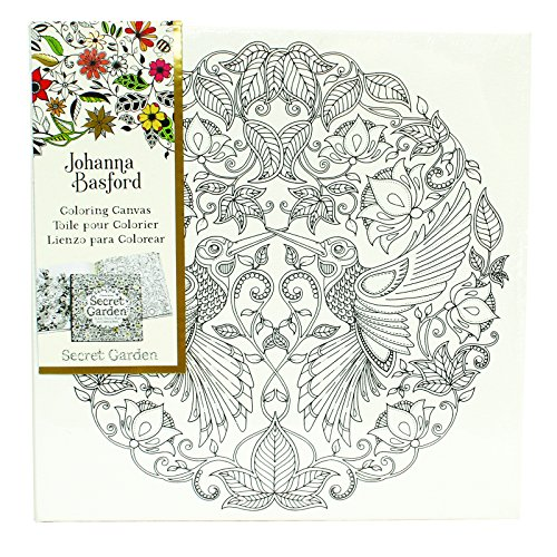 - Art Alternatives Johanna Basford Secret Garden Coloring Canvas - Hummingbird,