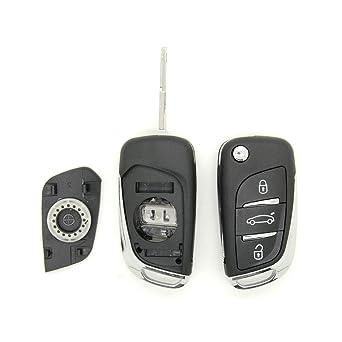 Carcasa para llave a distancia Citroen C2 C3 C4 C5: Amazon ...