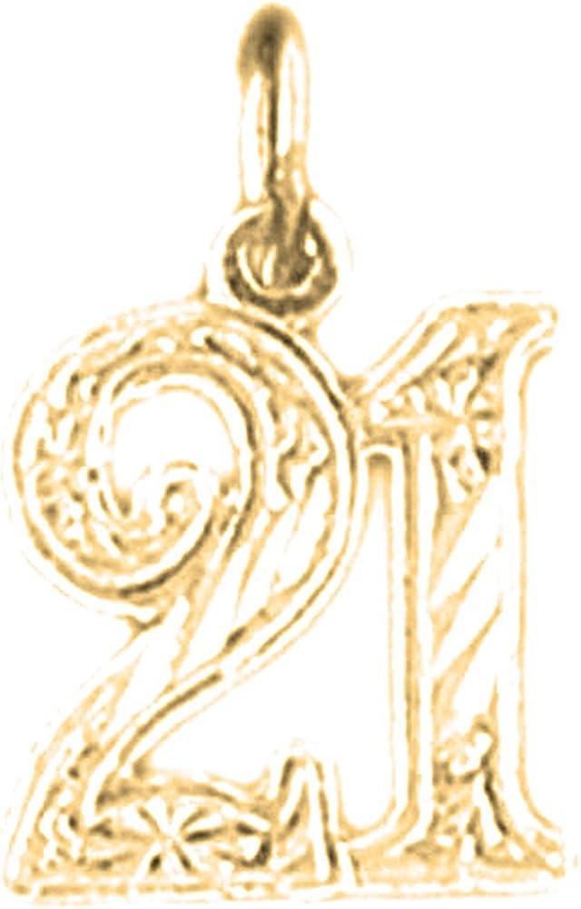 Jewels Obsession 14K White Gold #1 Grad Pendant 16 mm