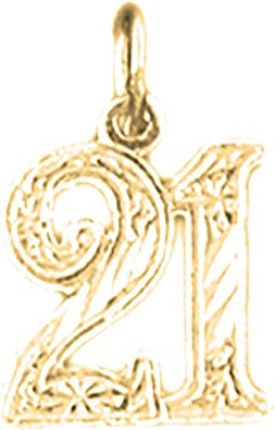 14K White Gold #1 Friend Pendant 13 mm Jewels Obsession #1 Friend Charm Pendant
