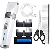 HUAXU Dog Shaver Clippers Rechargeable Cordless Dog Grooming Tools ket Clippers Pet Hair Trimmer Low Noise for Dogs and…