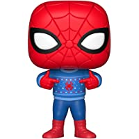 Funko Pop Marvel: Holiday - Spider-Man with Ugly Sweater Collectible Figure, Multicolor