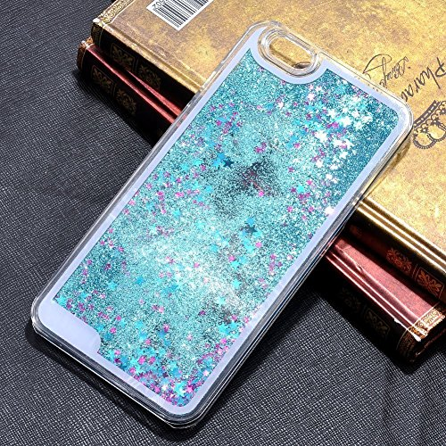 iPhone 5 Case,iPhone 5s Case,AnKey Cute Stars Liquid Case - 3D Design Dynamic Flowing Bling Sparkle Floating Glitter Quicksand Transparent Clear Hard Back Case Cover For Apple iPhone 5 5s(Blue)